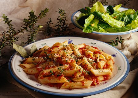 Pasta and Salad Stock Photo - Rights-Managed, Code: 700-00041274