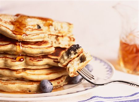 Blueberry Pancakes Stock Photo - Rights-Managed, Code: 700-00041273