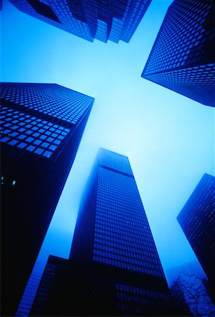peter griffith - Office Towers in Fog Toronto, Ontario, Canada Stock Photo - Rights-Managed, Code: 700-00042499