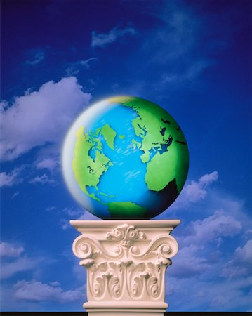 Globe on Pedestal Atlantic Ocean Stock Photo - Rights-Managed, Code: 700-00043410
