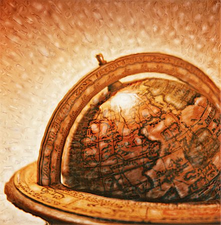 Wooden Globe Stock Photo - Rights-Managed, Code: 700-00055060