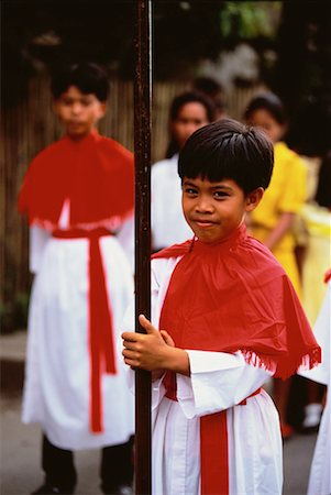 pictures philippine festivals philippines - Portrait of Boy at Good Friday Procession, Manapala, Philippines Stock Photo - Rights-Managed, Code: 700-00056750