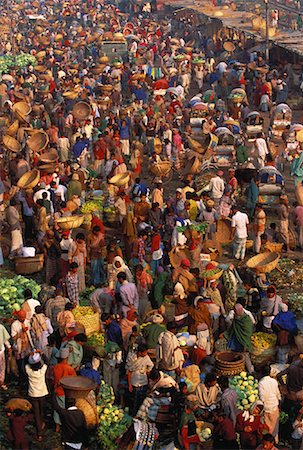 dhaka - Overview of People at The Main Friday Market, Dhaka, Bangladesh Stock Photo - Rights-Managed, Code: 700-00057644