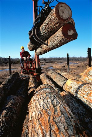 Man Loading Lumber onto Truck, Ontario, Canada Stock Photo - Rights-Managed, Code: 700-00058634