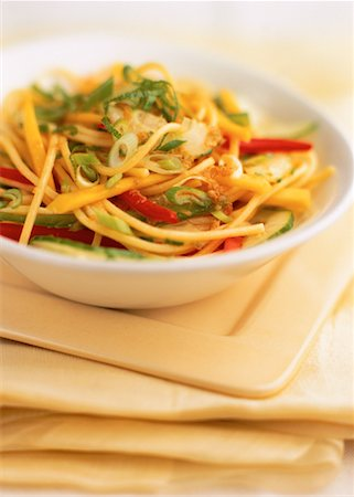 Bowl of Oriental Pasta Salad Stock Photo - Rights-Managed, Code: 700-00052796