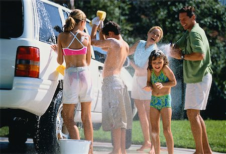Family Washing Car Stock Photo - Rights-Managed, Code: 700-00064318