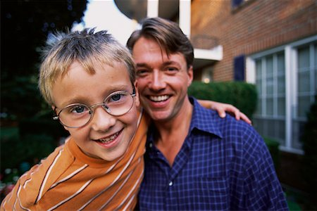 peter griffith - Portrait of Father and Son Outdoors Stock Photo - Rights-Managed, Code: 700-00067042