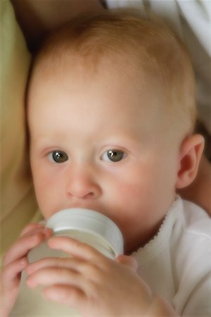 Portrait of Baby Drinking from Bottle Stock Photo - Rights-Managed, Code: 700-00067731