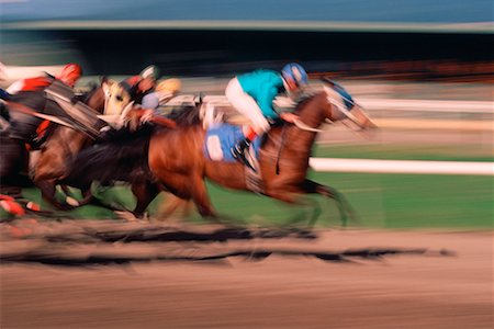Blurred View of Horse Racing Vancouver, British Columbia Canada Stock Photo - Rights-Managed, Code: 700-00068197