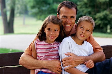 peter griffith - Portrait of Father, Son and Daughter Outdoors, Toronto, ON Canada Stock Photo - Rights-Managed, Code: 700-00069470