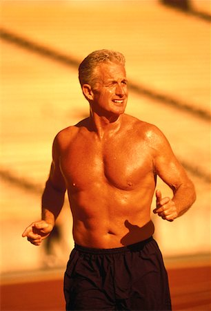 peter griffith - Mature Man Running Outdoors Stock Photo - Rights-Managed, Code: 700-00060730