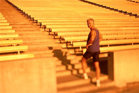 peter griffith - Portrait of Mature Man Standing On Stadium Steps Stock Photo - Rights-Managed, Code: 700-00060794