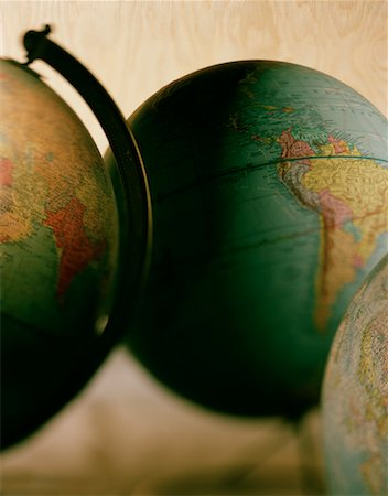 Three Globes Stock Photo - Rights-Managed, Code: 700-00075370