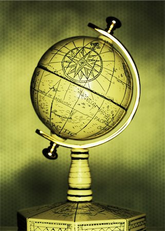 Antique Globe Stock Photo - Rights-Managed, Code: 700-00077369