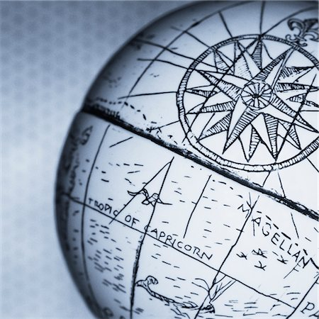 Close-Up of Antique Globe Stock Photo - Rights-Managed, Code: 700-00078180