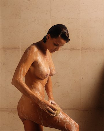 Woman in Shower Stock Photo - Rights-Managed, Code: 700-00078375