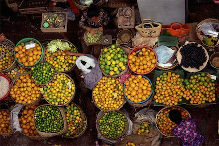 Overhead View of Women in Fruit Market in Denpasar's Central Marketplace, Bali, Indonesia Stock Photo - Rights-Managed, Code: 700-00079493