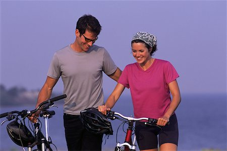 peter griffith - Couple Walking with Bicycles Stock Photo - Rights-Managed, Code: 700-00070149