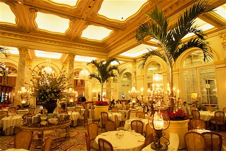restaurant new york manhattan - Palm Court in The Plaza Hotel New York, New York, USA Stock Photo - Rights-Managed, Code: 700-00071050