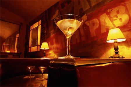 restaurant new york manhattan - Martini on Booth Divider, Soho New York, New York, USA Stock Photo - Rights-Managed, Code: 700-00071051