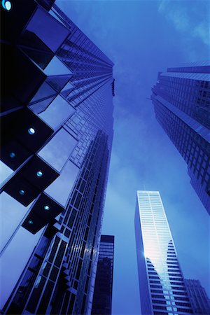 peter griffith - Looking Up at Office Towers and Sky, Toronto, Ontario, Canada Stock Photo - Rights-Managed, Code: 700-00071616