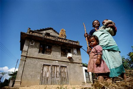 Portrait of Mother and Children By House Kathmandu Valley, Nepal Stock Photo - Rights-Managed, Code: 700-00086663