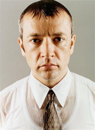 sweaty businessman - Portrait of Wet Businessman Stock Photo - Rights-Managed, Code: 700-00088933