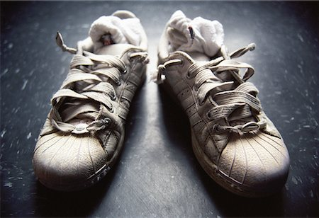 Running Shoes with Socks Stuffed Inside Stock Photo - Rights-Managed, Code: 700-00081583