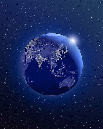 Globe in Space Asia Stock Photo - Rights-Managed, Code: 700-00082321