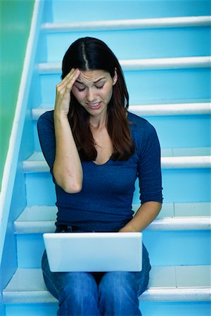 peter griffith - Woman with Laptop Computer Stock Photo - Rights-Managed, Code: 700-00095514