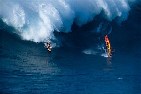 Windsurfers Maui, Hawaii, USA Stock Photo - Rights-Managed, Code: 700-00091184