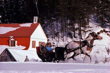 People on a Sleigh Ride Saint Urbain, Charlevoix Quebec, Canada Stock Photo - Rights-Managed, Code: 700-00091822