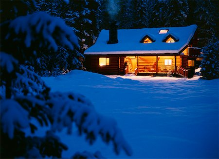 Cabin in the Woods Stock Photo - Rights-Managed, Code: 700-00155602