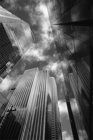 peter griffith - Looking Up at Office Towers Stock Photo - Rights-Managed, Code: 700-00155626