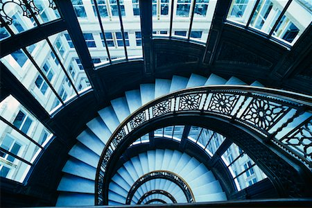 peter griffith - Staircase, Chicago, Illinois, USA Stock Photo - Rights-Managed, Code: 700-00155631