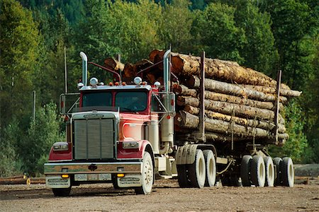 Logging Truck Stock Photo - Rights-Managed, Code: 700-00159587