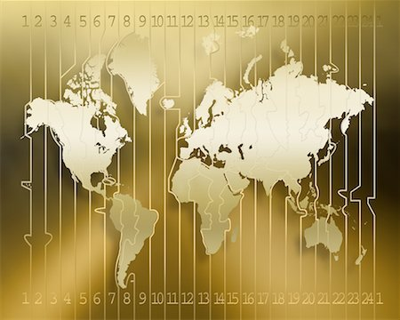 Time Zone Map Stock Photo - Rights-Managed, Code: 700-00150936