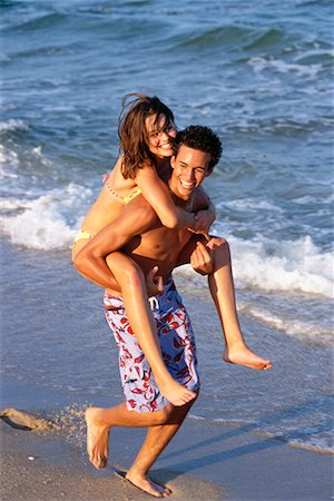 Teenage Couple At The Beach Stock Photo - Rights-Managed, Code: 700-00151761