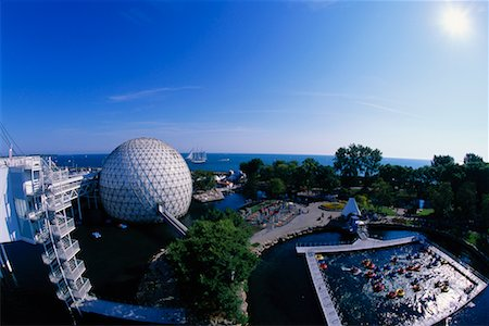 Skydeck and Cinesphere Ontario Place Toronto, Ontario, Canada Stock Photo - Rights-Managed, Code: 700-00152094