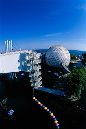 Cinesphere and Skydeck Ontario Place Toronto, Ontario, Canada Stock Photo - Rights-Managed, Code: 700-00152096