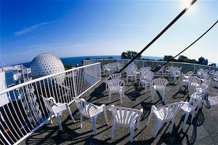 Chairs on Skydeck with View of Cineshpere, Ontario Place Toronto, Ontario, Canada Stock Photo - Rights-Managed, Code: 700-00152097