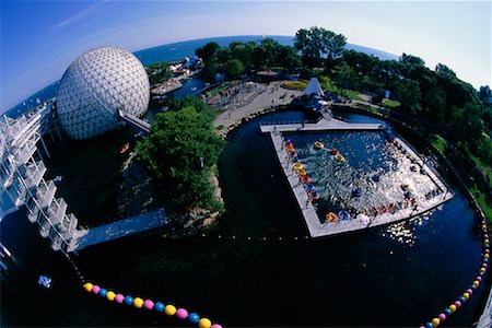 Cinesphere and Bumper Boats Ontario Place Toronto, Ontario, Canada Stock Photo - Rights-Managed, Code: 700-00152093