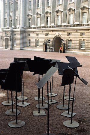 Music Stands by Buckingham Palace London, England Stock Photo - Rights-Managed, Code: 700-00153572