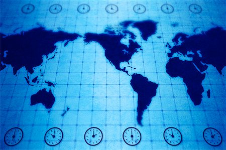 World Map with Time Zones Stock Photo - Rights-Managed, Code: 700-00166567