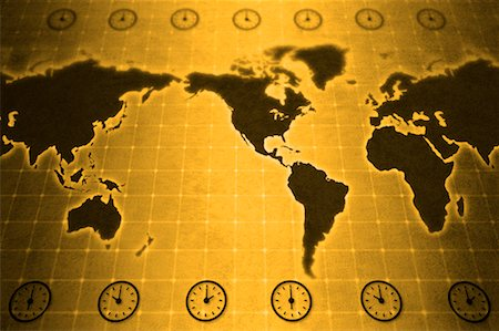 World Map with Time Zones Stock Photo - Rights-Managed, Code: 700-00166568