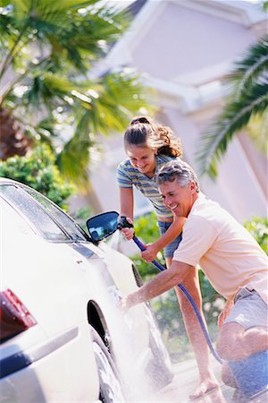 Father and Daughter Washing Car Stock Photo - Rights-Managed, Code: 700-00168084