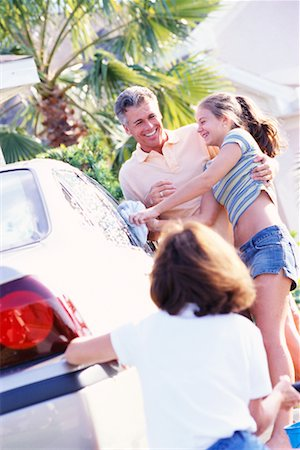Family Washing Car Stock Photo - Rights-Managed, Code: 700-00168085