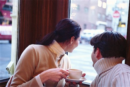 restaurant new york manhattan - Couple in Cafe Stock Photo - Rights-Managed, Code: 700-00160947