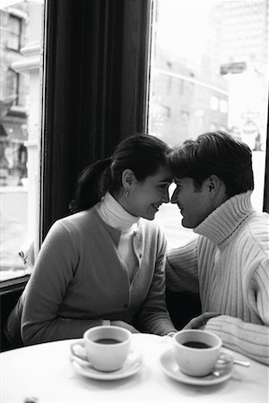 restaurant new york manhattan - Couple in a Cafe Soho, New York, USA Stock Photo - Rights-Managed, Code: 700-00160943