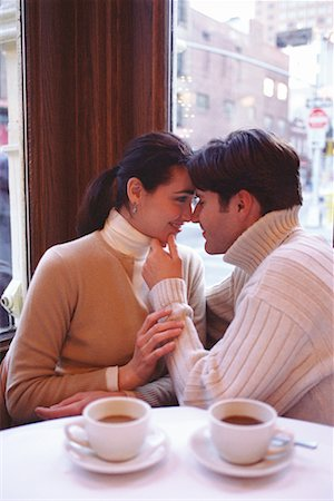 restaurant new york manhattan - Couple in a Cafe Soho, New York, USA Stock Photo - Rights-Managed, Code: 700-00160950